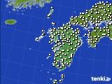 九州地方のアメダス実況(気温)(2020年03月12日)