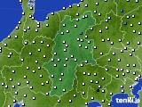 長野県のアメダス実況(気温)(2020年03月12日)