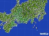 東海地方のアメダス実況(風向・風速)(2020年03月12日)