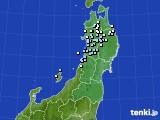 2020年03月13日の東北地方のアメダス(降水量)