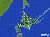 北海道地方のアメダス実況(積雪深)(2020年03月13日)