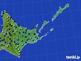 道東のアメダス実況(積雪深)(2020年03月13日)
