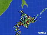 北海道地方のアメダス実況(日照時間)(2020年03月13日)