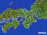 近畿地方のアメダス実況(日照時間)(2020年03月13日)