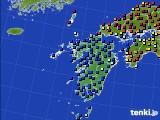 九州地方のアメダス実況(日照時間)(2020年03月13日)