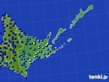 道東のアメダス実況(気温)(2020年03月13日)