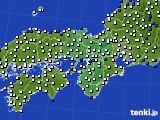近畿地方のアメダス実況(風向・風速)(2020年03月13日)