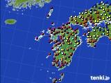 九州地方のアメダス実況(日照時間)(2020年03月14日)