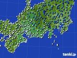 2020年03月14日の東海地方のアメダス(気温)