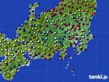 関東・甲信地方のアメダス実況(日照時間)(2020年03月15日)