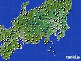 関東・甲信地方のアメダス実況(気温)(2020年03月15日)