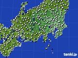 関東・甲信地方のアメダス実況(風向・風速)(2020年03月15日)