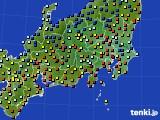 関東・甲信地方のアメダス実況(日照時間)(2020年03月16日)