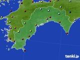 高知県のアメダス実況(日照時間)(2020年03月16日)
