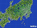 関東・甲信地方のアメダス実況(気温)(2020年03月16日)