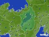 滋賀県のアメダス実況(気温)(2020年03月16日)