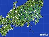 関東・甲信地方のアメダス実況(風向・風速)(2020年03月16日)