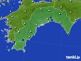 高知県のアメダス実況(風向・風速)(2020年03月16日)