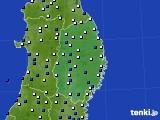 岩手県のアメダス実況(風向・風速)(2020年03月16日)