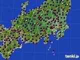 関東・甲信地方のアメダス実況(日照時間)(2020年03月17日)