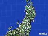 2020年03月17日の東北地方のアメダス(風向・風速)