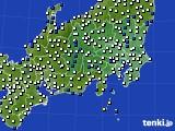 関東・甲信地方のアメダス実況(風向・風速)(2020年03月17日)