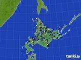 北海道地方のアメダス実況(積雪深)(2020年03月18日)
