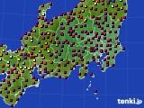 関東・甲信地方のアメダス実況(日照時間)(2020年03月18日)