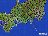東海地方のアメダス実況(日照時間)(2020年03月18日)