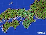 近畿地方のアメダス実況(日照時間)(2020年03月18日)
