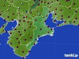 三重県のアメダス実況(日照時間)(2020年03月18日)