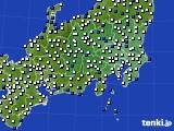 関東・甲信地方のアメダス実況(風向・風速)(2020年03月18日)