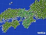 近畿地方のアメダス実況(風向・風速)(2020年03月18日)
