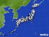 アメダス実況(風向・風速)(2020年03月18日)