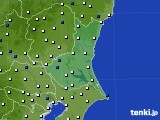 茨城県のアメダス実況(風向・風速)(2020年03月18日)