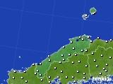 島根県のアメダス実況(風向・風速)(2020年03月18日)