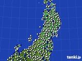 2020年03月19日の東北地方のアメダス(風向・風速)
