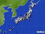 アメダス実況(風向・風速)(2020年03月19日)