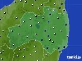 福島県のアメダス実況(風向・風速)(2020年03月19日)