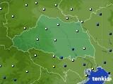 埼玉県のアメダス実況(風向・風速)(2020年03月19日)