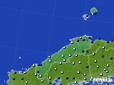 島根県のアメダス実況(風向・風速)(2020年03月19日)