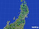 2020年03月20日の東北地方のアメダス(気温)