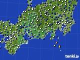 東海地方のアメダス実況(風向・風速)(2020年03月20日)