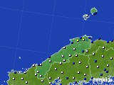 島根県のアメダス実況(風向・風速)(2020年03月20日)