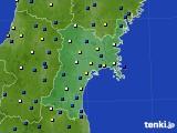 宮城県のアメダス実況(風向・風速)(2020年03月20日)