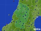 山形県のアメダス実況(風向・風速)(2020年03月20日)