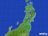 東北地方のアメダス実況(降水量)(2020年03月21日)