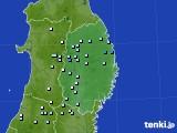 岩手県のアメダス実況(降水量)(2020年03月21日)
