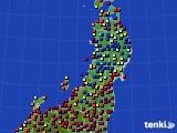 東北地方のアメダス実況(日照時間)(2020年03月21日)