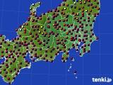 関東・甲信地方のアメダス実況(日照時間)(2020年03月21日)